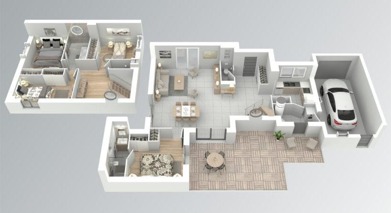 Maison contemporaine T5 118m2
