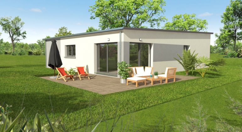 Maison plain pied contemporain (T4)