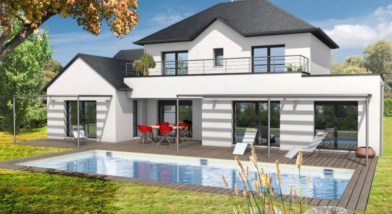 Découvrez la Maison contemporaine CANTATE (4 pans) - modèle ...