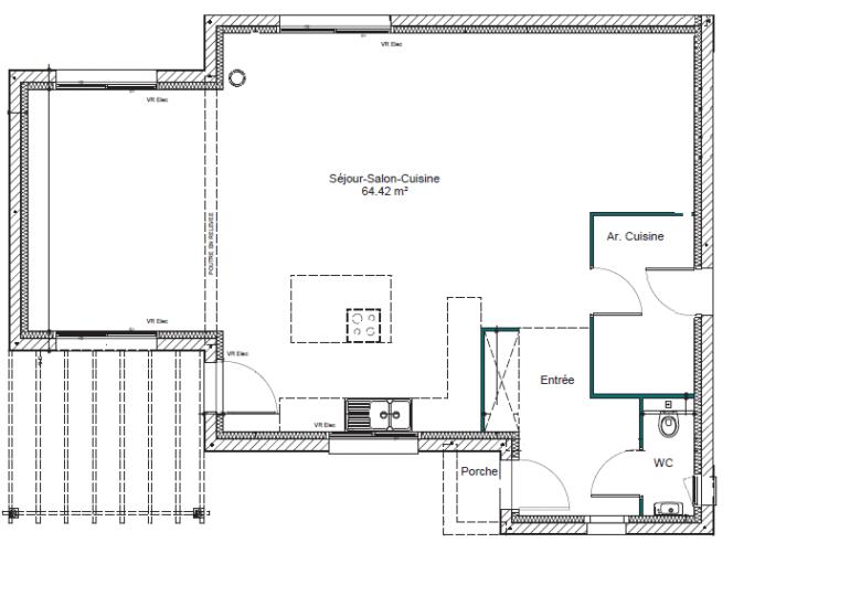 Maison plain pied T4 126m2