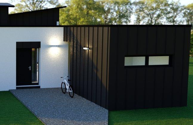 entrée plain pied contemporain 120 m²