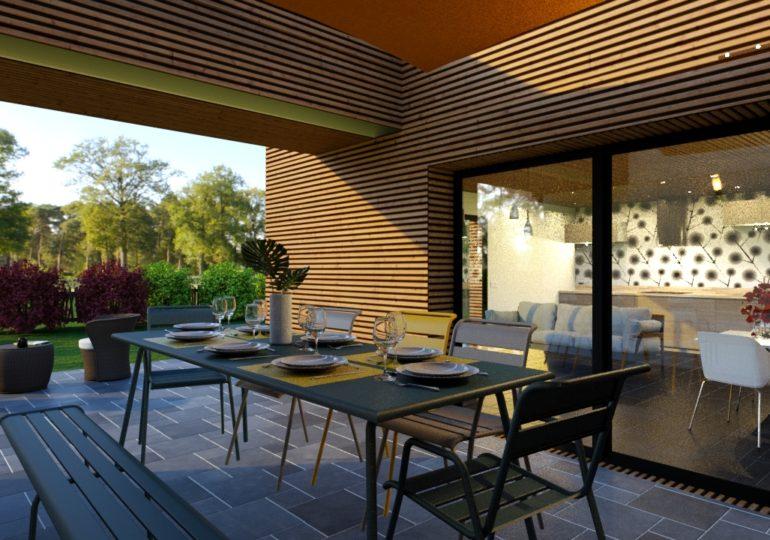 T3 plain pied 89 m² moderne terrasse