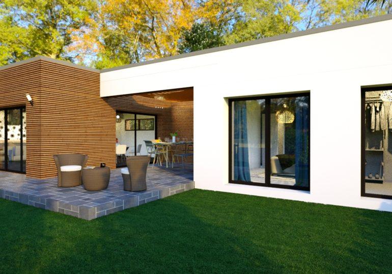plain pied 89 m² moderne vue terrasse