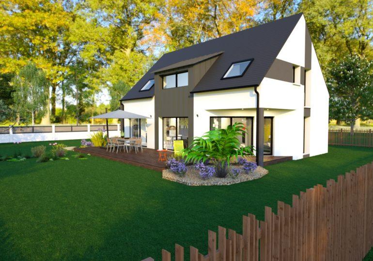 maison traditionnelle bardage zinc 140 m²