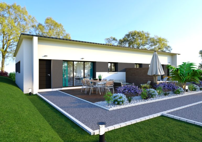 contemporaine plain pied 70 m²