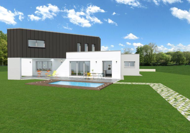 Maison moderne géométrique