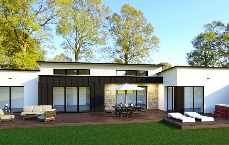 maison moderne plain pied 154